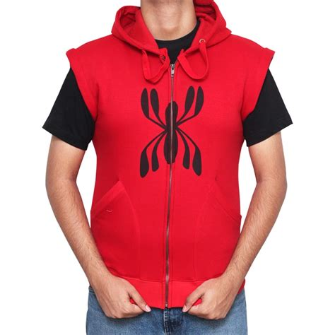 Sleeveles Hoodie Manchester City spider homecoming hoodie official handmade