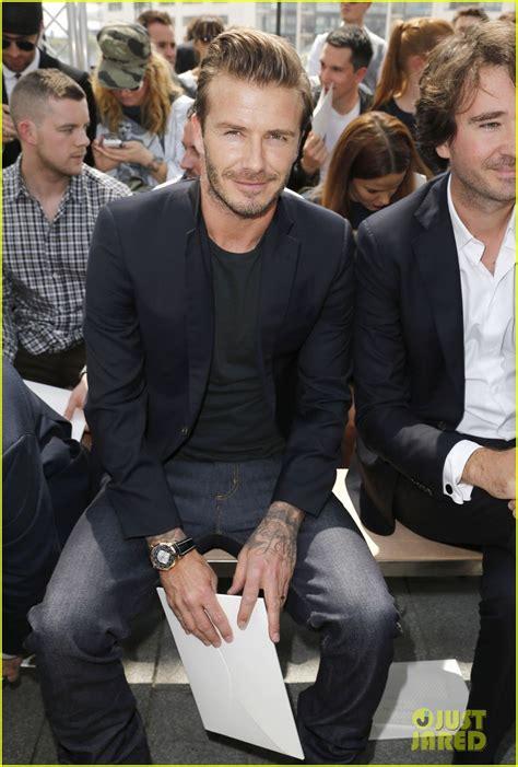 Louis Vuitton David Beckham With His Louis Vuitton Sac Squash And Pegase Luggage by David Beckham Louis Vuitton Show With Marc