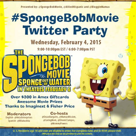 the spongebob movie: sponge out of water twitter party!