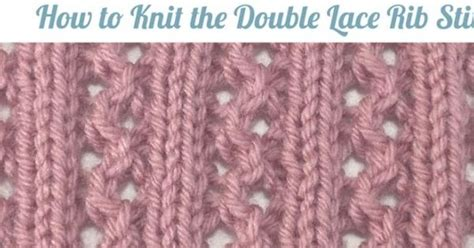 how to knit left handed lace rib stitch cover and pdf for