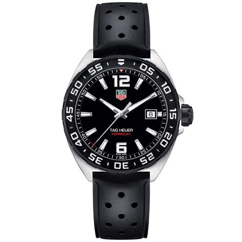 tag heuer formula 1 black rubber waz1110