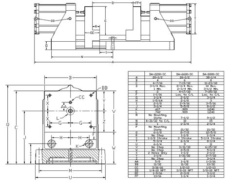 bench vice sizes drill press vise drawing