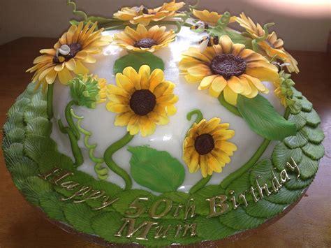 Garden Cake Cake Decorating Community Fondant Sunflower Garden Cake Cake Decorating Community Cakes We Bake