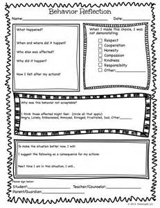 Conduct Sheet Template by 25 Best Ideas About Behavior Reflection Sheet On