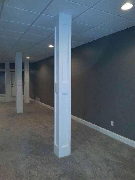 basement finished poles basement home - Basement Telepost Covers