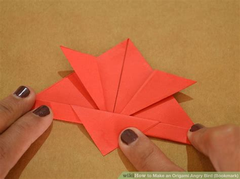 Origami Angry Birds - how to make an origami angry bird bookmark with pictures