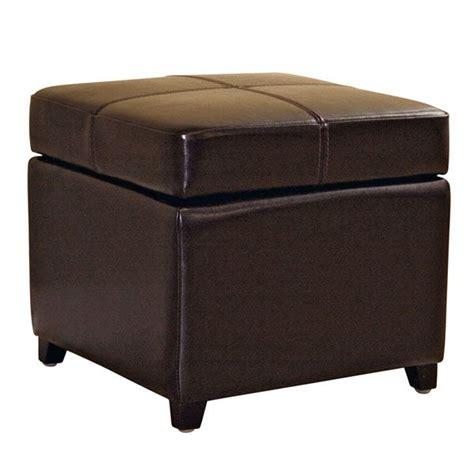 leather storage ottomans sale breelan leather storage ottoman in dark brown dcg stores