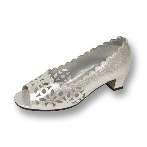 wide dress shoes fic floral irene womens wide width evening dress shoe ebay