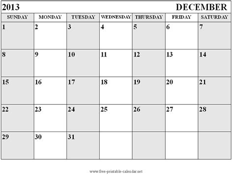 December 2013 Calendar Template blank calendar 2014 december new calendar template site