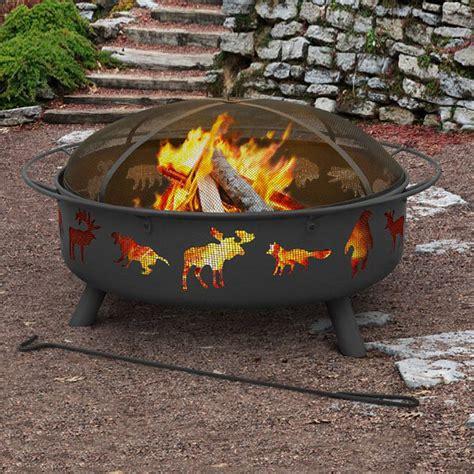 Wood Burning Firepits Shop Landmann Usa Sky 43 In W Black Steel Wood Burning Pit At Lowes
