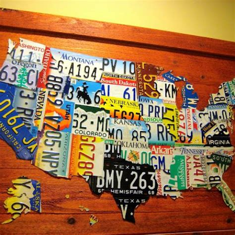united states map made out of license plates hometalk diy license plate map of usa