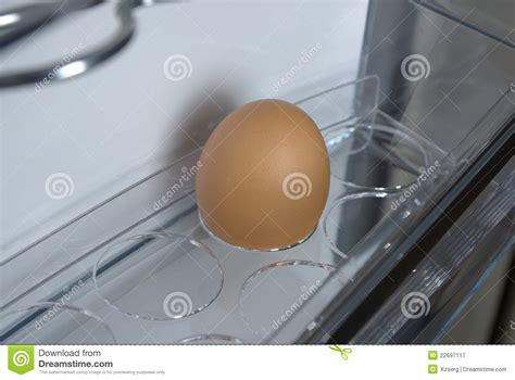 egg in the fridge royalty free stock photography image