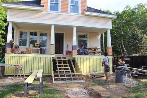 craftsman porch craftsman porch columns for an island home jlc online