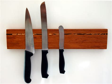 Magnetic Wooden Knife Rack by Magnetic Wood Knife Rack Magnetic Knife Holder