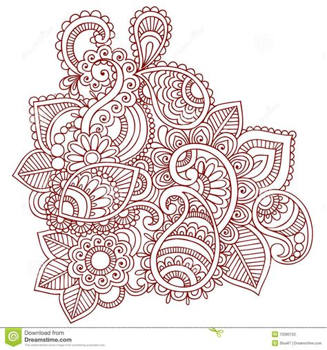paisley henna tattoo free coloring pages of mehndi patterns