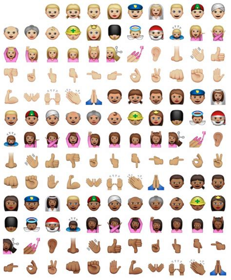 apple adds   emojis  increase racial diversity