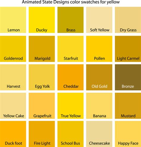 green color swatches color swatches for cyan yellow yellow green and green in