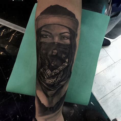 bandana tattoo gangster bandana tattoos tattoos by mete tungaz