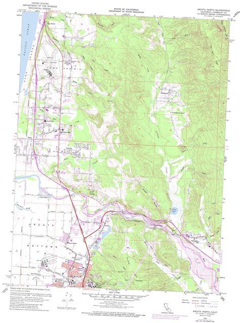 usgs maps california arcata topographic map ca usgs topo 40124h1