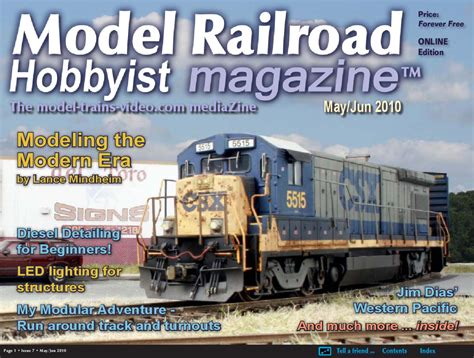 model railroad hobbyist magazine model trains model issuu mrh may jun 2010 issue 7 by model railroad