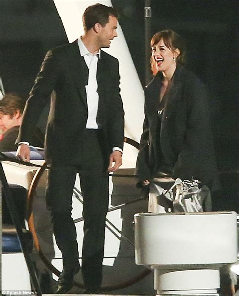 fifty shades darker filming in june dakota johnson and jamie dornan film fifty shades darker