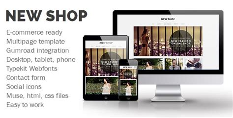 New Shop Muse Template Free Nulled Themes Adobe Muse Ecommerce Templates Free
