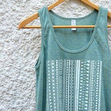 Jacket 02021664 Green Aztec Pattern white aztec pattern on light green tank from folica clothing