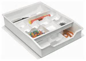 everything drawer organizer 2 tier sliding tray white