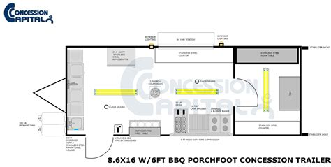 concession trailer floor plans 16 x 32 floorplans studio design gallery best design