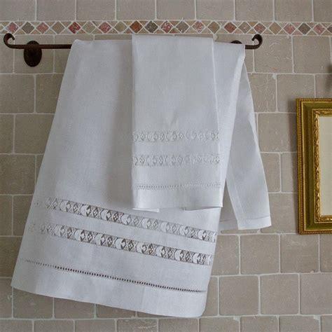 ricami sfilati per tende coppia asciugamani hardanger ricami e pizzi