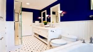 blue and white bathroom decorating ideas dark blue