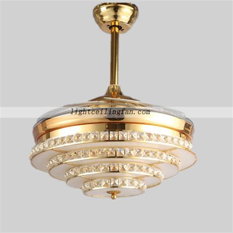acrylic ceiling fan blades crystal led ceiling fan light with acrylic fan blade