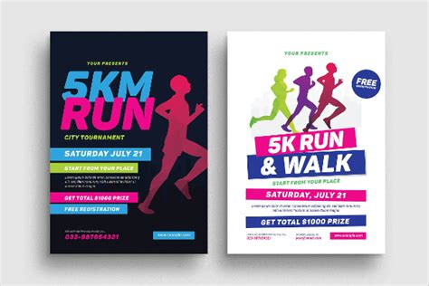 5k flyer template 25 marathon flyer templates free premium
