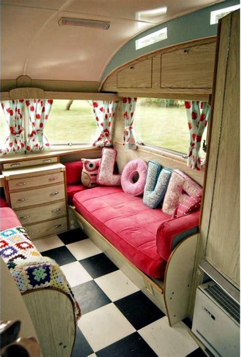 Camper Trailer Kitchen Designs Caravan Decoration Set The Caravan With A Retro Touch