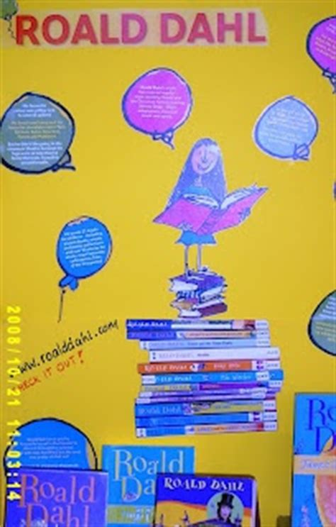 what colour paper did roald dahl write on 98 best images about library displays on