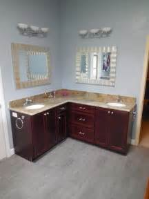 l shaped bathroom cabinets l shaped vanity