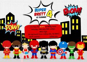 We started with this adorable superhero invitation by the party town