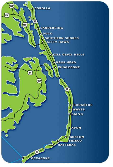 map of outer banks outer banks accommodations outer banks carolina