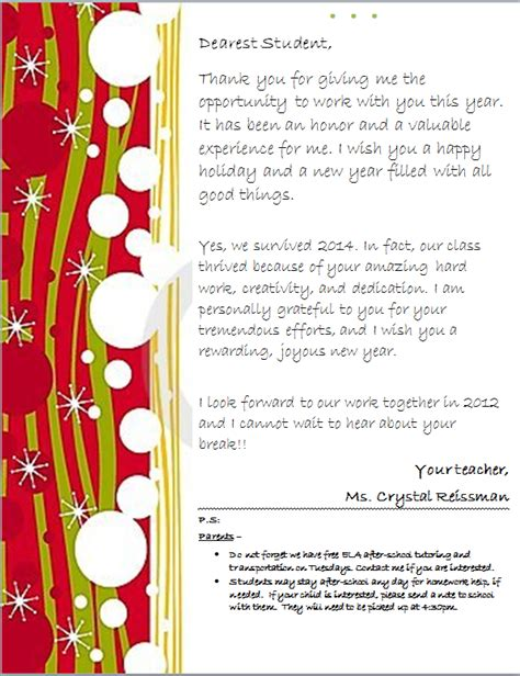 Parent Letter About Student Progress Parent Involvement Literacyportfolio