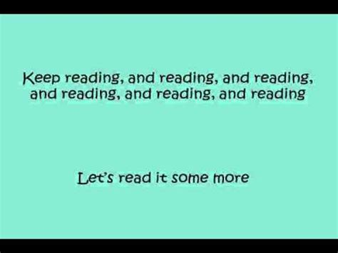 printable lyrics for gotta keep reading gotta keep reading with vocals removed wmv youtube