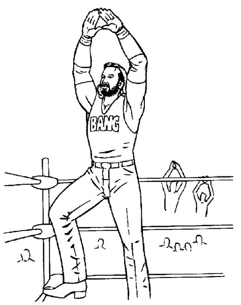 wwe coloring page coloring home