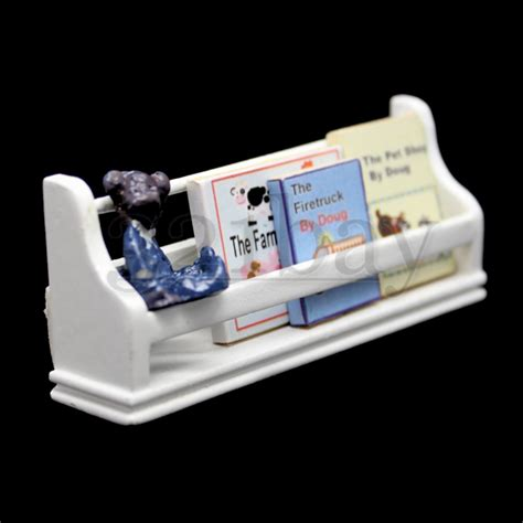 dollhouse nursery children books bookshelf white dollhouse nursery bookshelf