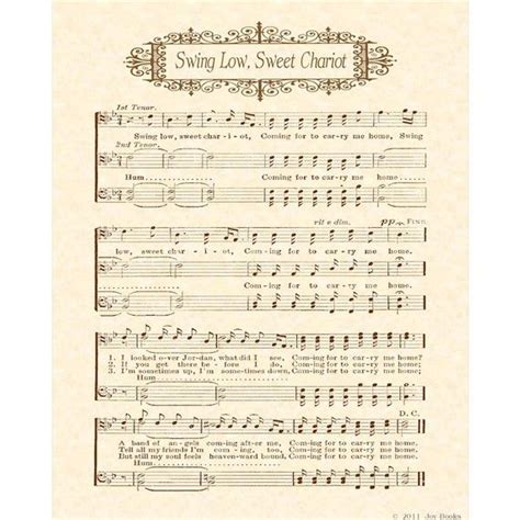 words to swing low sweet chariot hymn 104 best images about christian hymns vintage on