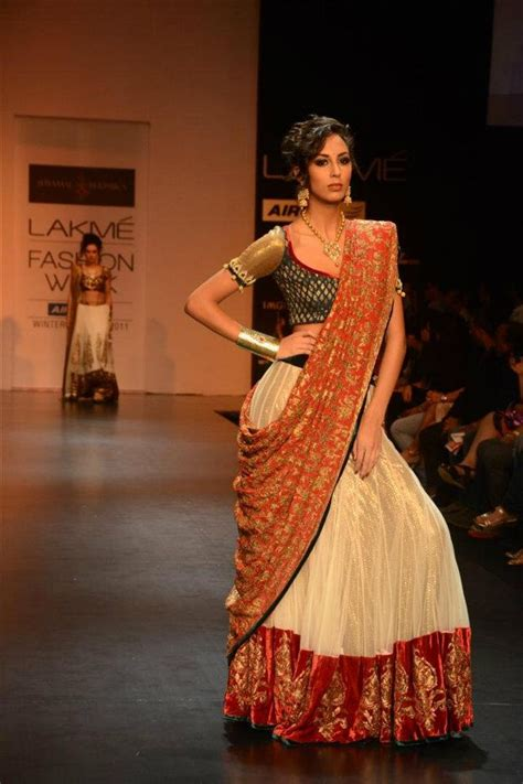 how to drape a dupatta on the head shyamal bhumika us this beautiful lehenga choli is made