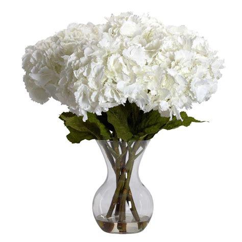 natural    white large hydrangea  vase