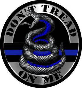 thin blue line don t tread on me circular decal