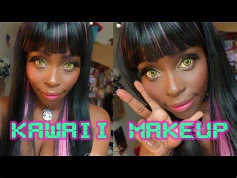 kawaii makeup for dark skin