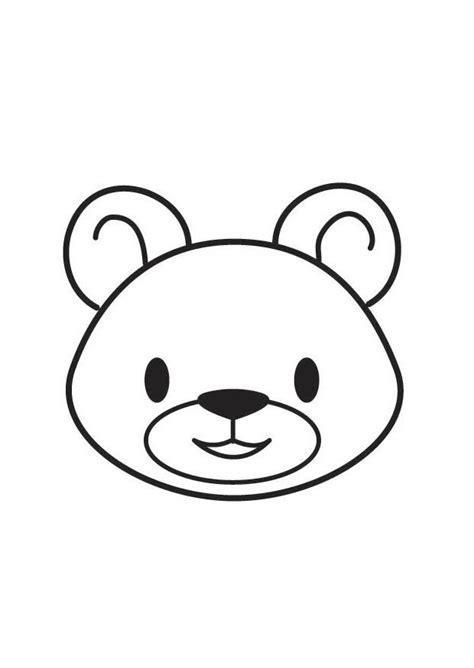 kleurplaat kop beer afb