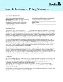 investment policy statement template investment policy statement template best template
