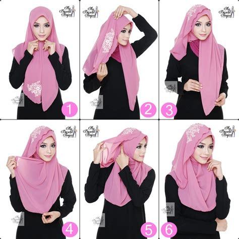 tutorial hijab qonitah al jundiah my bawal project september 2014